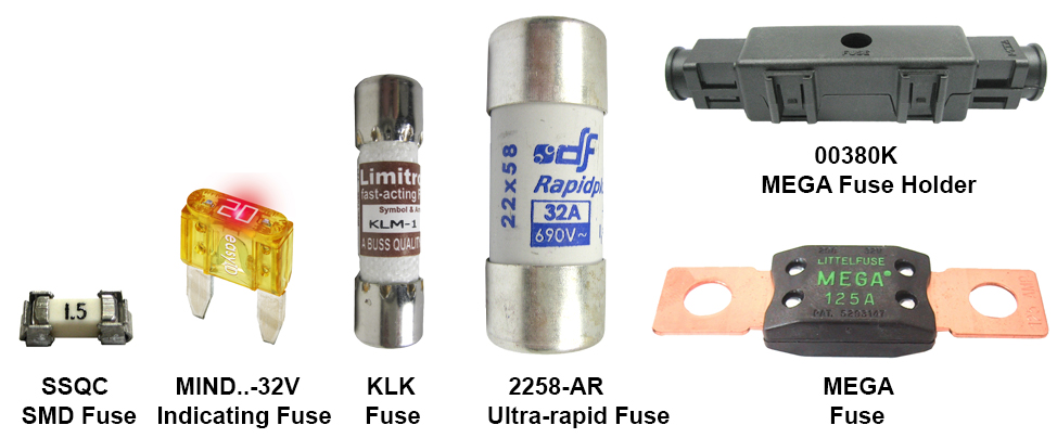 Fuses used in a Formula SAE car